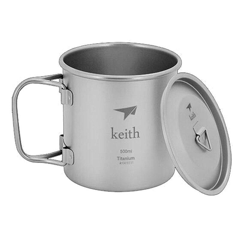 Keith titanium ti3205 taza ultraligero sola pared de vacío taza de agua camping