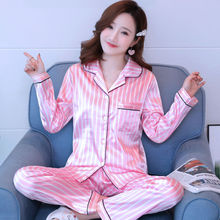 Silk Pajamas Set Women Summer Sexy Rayon Print Cartoon Bunny