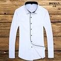 Hot 2016 Brand Long Sleeve Man Shirt White Slim Formal Business Affair Fashion Solid Male Dress Shirts Warm High Quality