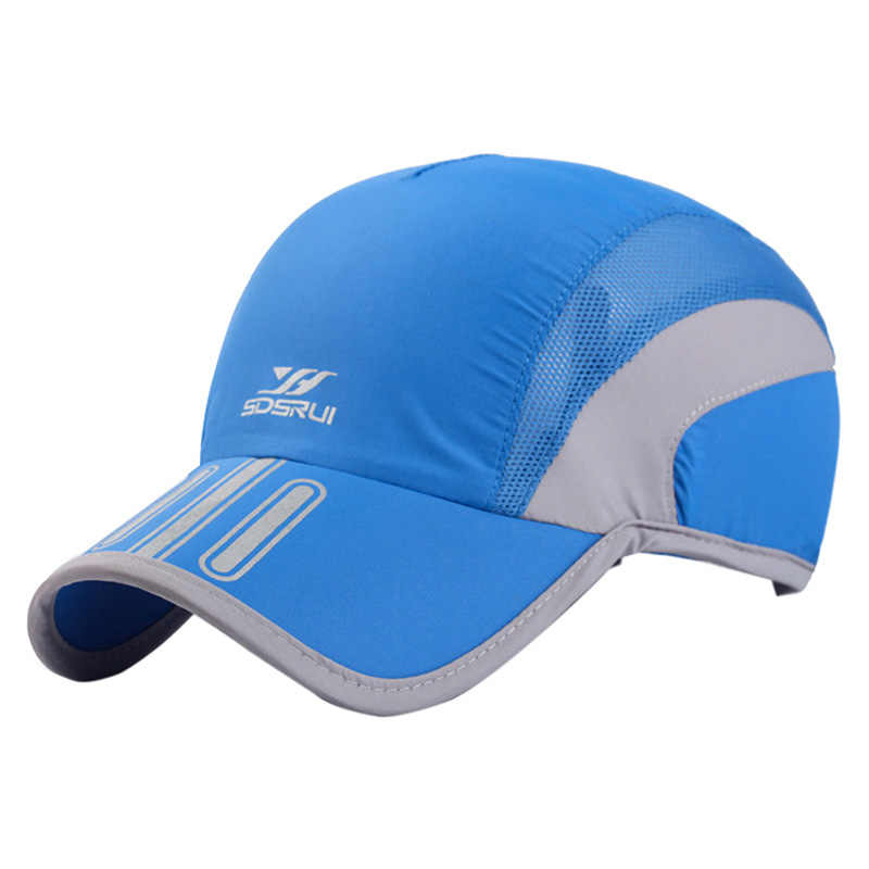 Men Summer Sports Caps Breathable Mesh Cap Quick Dry Hat Bone Snapback Male Climbing Running Sport Hats