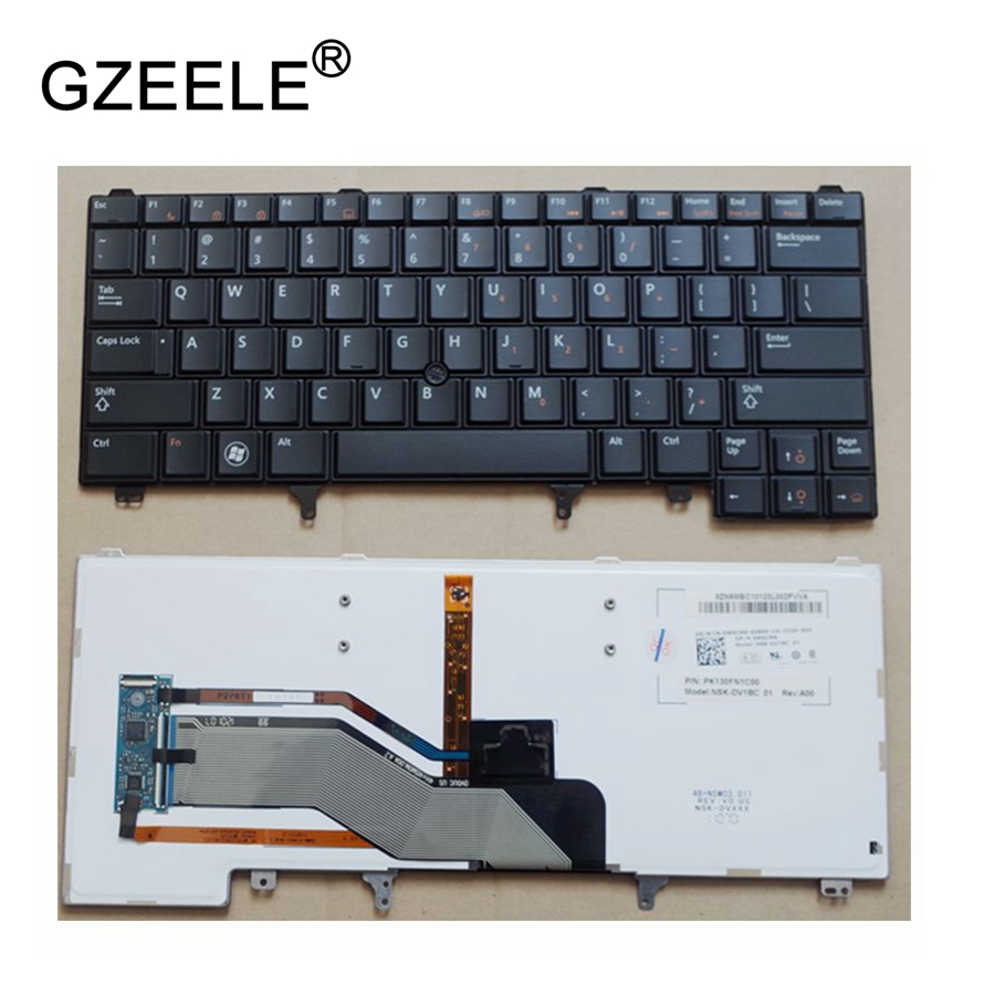 GZEELE For Dell Latitude E5420 E5420M E5430 E6220 E6230 E6320 E6330 keyboard US layout black color with backlit laptop keyboard блузка quelle ajc 81495946