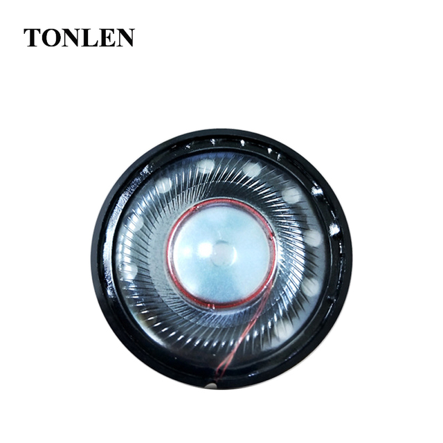 TONLEN Subwoofer Headphones Speakers Accessories 40mm Headset Speaker Nonpaper Diaphragm Full Coverage Earphone Speakers 2pcs