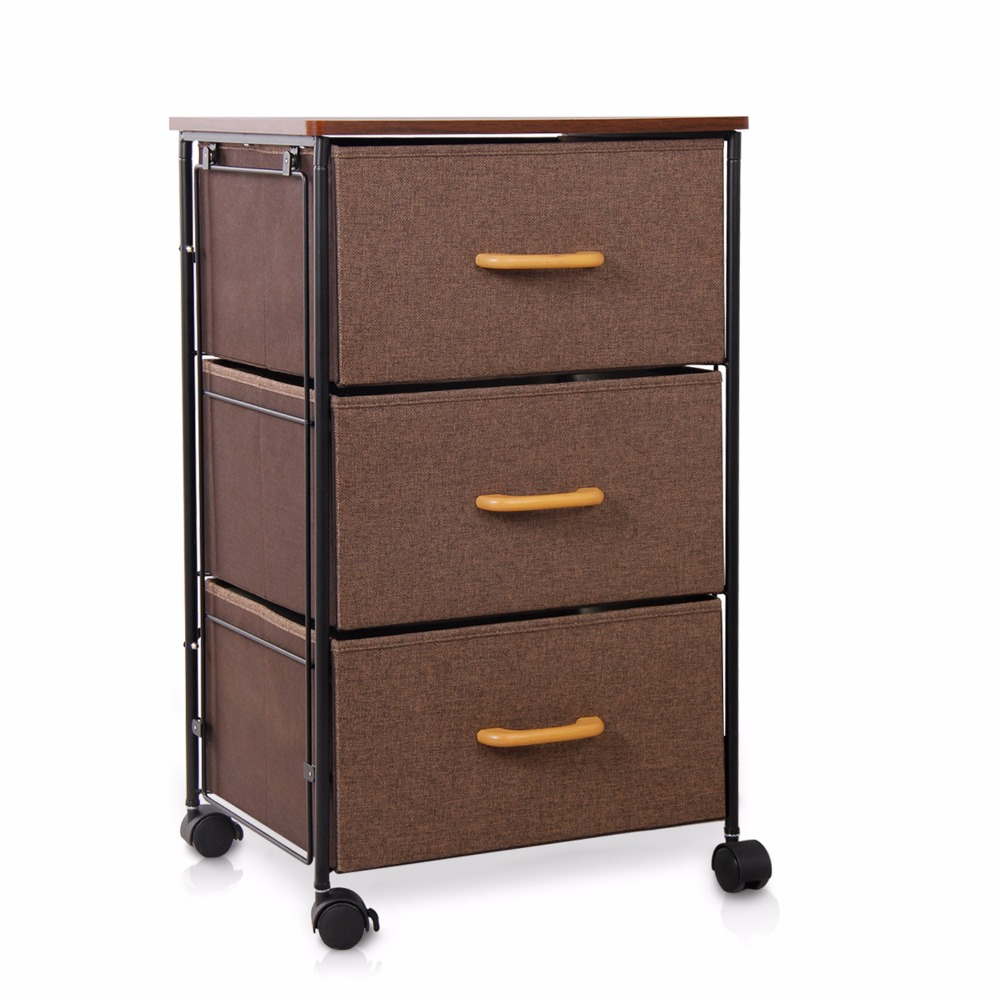 Lifewit 3 Tier Drawer Storage Bin Cabinet Home Office Storage Rolling Cart  Clothes Knitting Basket For Clothes Toys Storage Box