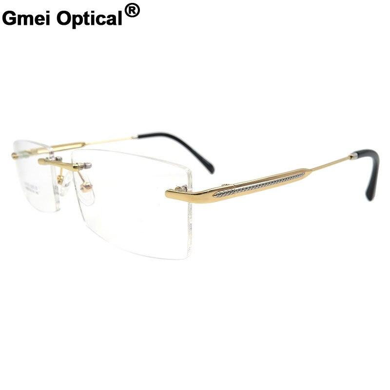 Gmei Optical S8323 Rimless Eyeglasses Frame for men Rimless Eyewear Glasses