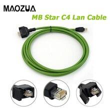 Kabel Lan Maozua C4 dla Benz MB gwiazda C4 SD podłącz kompaktowy kabel 4 Lan dla kabla diagnostycznego Mercedes dla samochodów ciężarowych