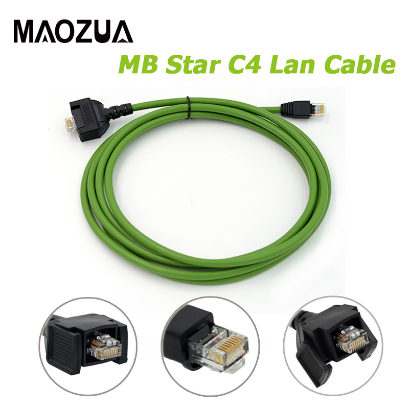 Maozua C4 Lan Cable for Benz MB Star C4 SD Connect Compact 4 Lan Cable for Mercedes Diagnostic Cable for Cars Trucks