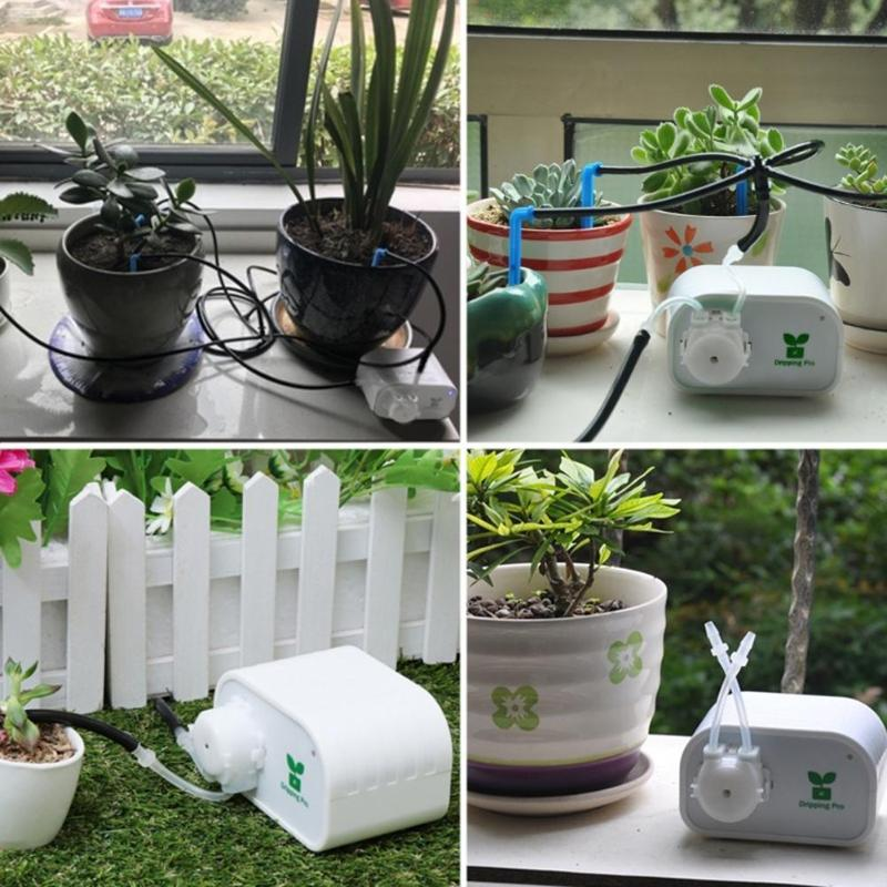 Image 4 - Garden Automatic Watering Device Mobile Phone Control Intelligent Drip Irrigation Tool Succulents Plant Watering Timer System-in Watering Kits from Home & Garden