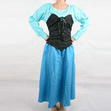Princesa ariel traje de sirena sexy traje de adultos disfraces de halloween para mujeres cosplay del cuento de hadas fantasía mujeres custom vestido
