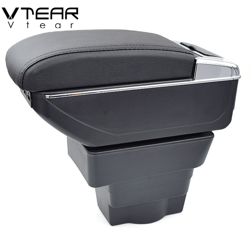 Vtear For Opel Astra armrest box USB Charging heighten Double layer central Store content cup holder ashtray accessories 10 13