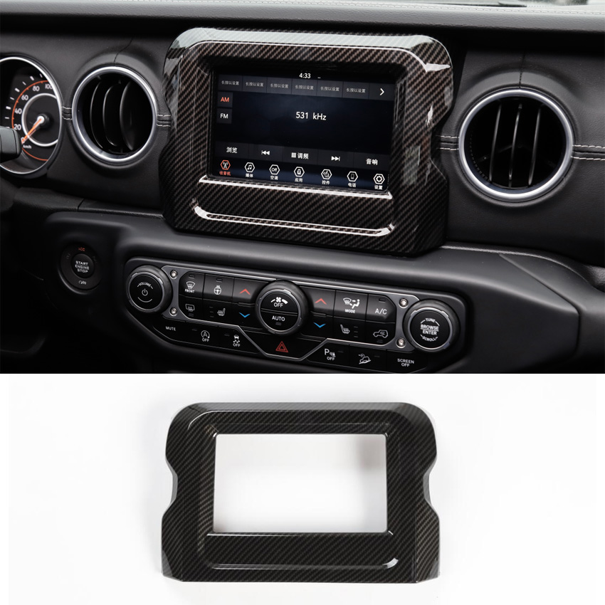 JXKaFa Fit For Jeep Wrangler JL 2018 Car GPS Navigation Decoration Frame Bezel Decal Sticker Trim