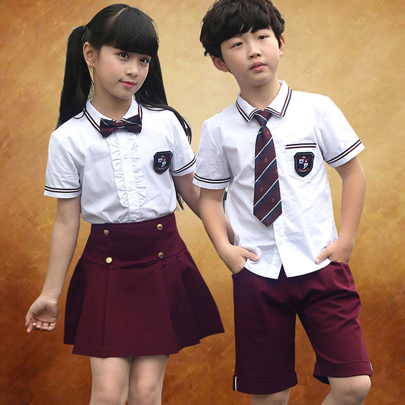 Childrens suit 2018 New Style Summer Fashion College Wind Graduation Photo Costume School uniform Jacket + Pants Two-piece