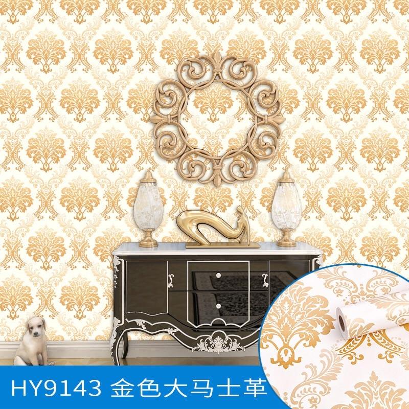 0.45 m * 10 m Rouleau Taille Classique Damassé Européenne Style Floral PVC Papier Peint papier de parede pour Chambre et salon