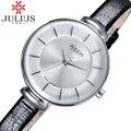 2017 Fashion Julius Brand Leather Strap Watches Women Dress Watch Clock Waterproof Girls Ladies Quartz Watch Reloj Mujer Montre