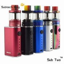 2pcs e-cigarette minimi box mod kit with 2.0ML D2 tank 1400mAh built in battery 10-50W vape e cig mods cigarette electronic kit