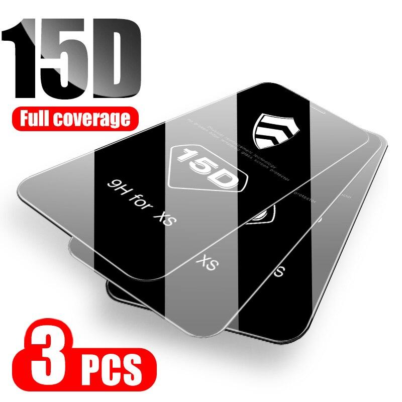 123.48руб. 20% СКИДКА|3 1 шт./лот 15D изогнутый край Полное покрытие Защитное стекло для iPhone 7 8 6 6S Plus Защита экрана для iPhone X XR XS 11 Pro Max|Защитные стекла для экрана телефонов| |  - AliExpress