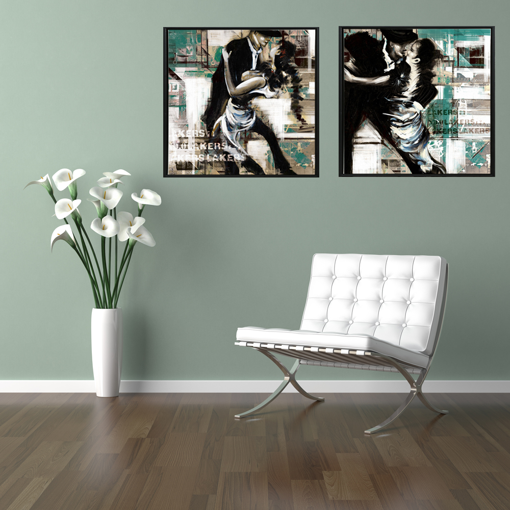 Abstract Tango Girl Oil Paintings Print On Canvas Modern Portrait Dancer Wall Art Posters For Living Room Cuadros Decoration