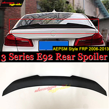 For BMW E92 320i 323i 325i 328 Highkick duckbill FRP Unpainted Trunk spoiler wing PSM style 3 Series Rear 06-13