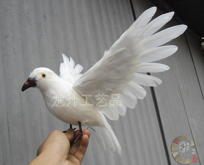 ФОТО wings pigeons toy lifelike simulation flying peace dove doll gift about 45x25cm