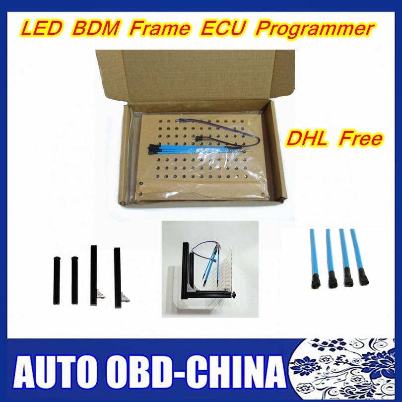 imágenes para DHL envío LED Conjunto Completo BDM BDM Frame Con 4 Sonda de Plumas BDM100 programador Para K-TAG KTAG KESS V2 Fgtech Auto ECU chip Tuning herramienta