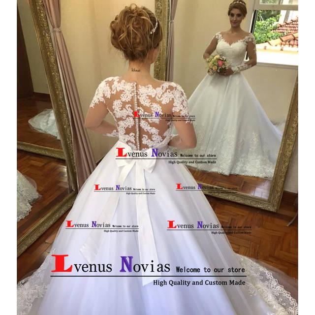 0b588d08b7b5 Vestido Branco Bonito Boho Manga Longa Vestidos de Casamento 2019 Robe de Mariee  Vestido de Noiva Trouwjurk vestido de noiva plus size em Vestidos De ...