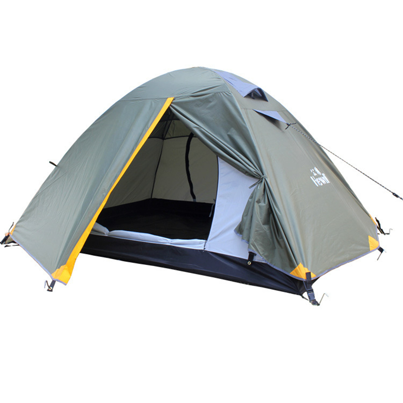 Outdoor Camping Tent 2 Person Ultralight Camping Tent 4 Seasons for Beach Fishing with Waterproof Index 3000mm Camping Tent