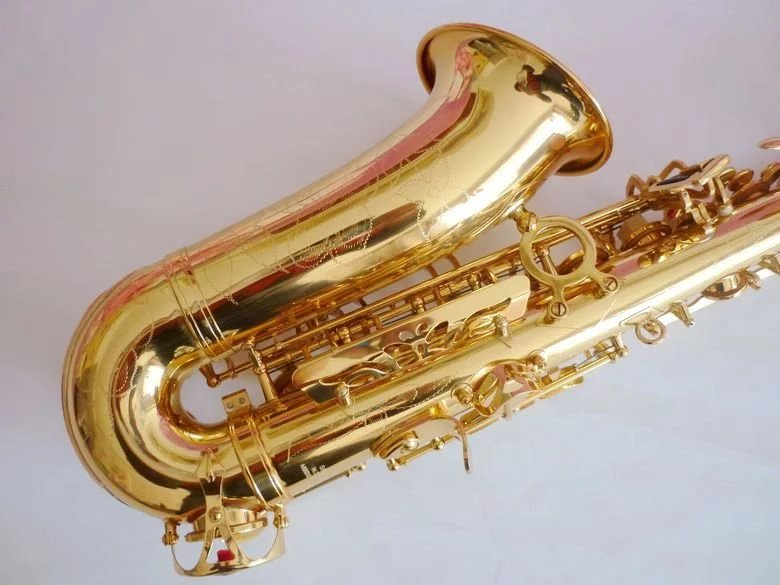 Best Selling ORIGINAL SELME Alto Saxophone 802 E Flat Electrophoresis Gold Saxe Top Musical Instrument with all accessory free shipping france henri selmer saxophone alto 802 musical instrument alto sax gold curved saxfone mouthpiece electrophoresis