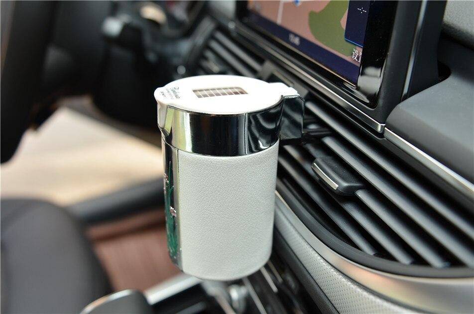 CHIZIYO Новейшая автомобильная портативная сигарета пепельница Бездымная автомобильная пепельница из углеродного волокна со светодиодной по...