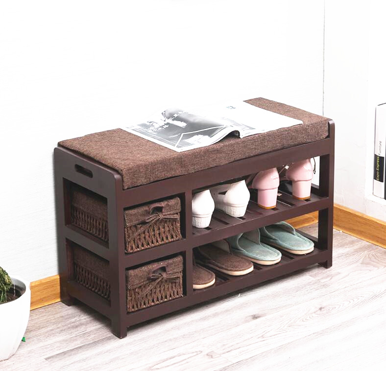 Wooden Shoe Rack Storage Organizer & Hallway Bench Living Room Cabinets for Shoe Home Entryway Shelf Stand Storage Ottoman 12 grid diy assemble folding cloth non woven shoe cabinet furniture storage home shelf for living room doorway shoe rack