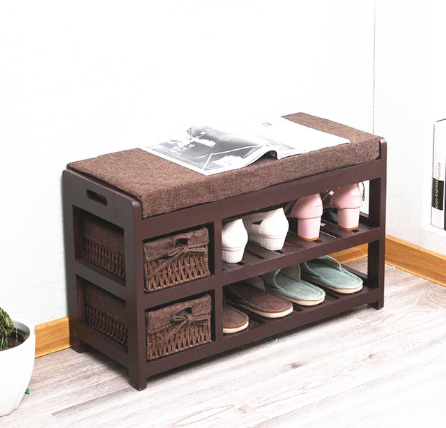 Wooden Shoe Rack Storage Organizer U0026 Hallway Bench Living Room Cabinets For  Shoe Home Entryway Shelf