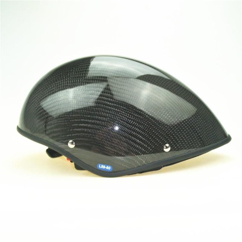 Real Carbon Paragliding helmet EN 966 certificated Half face Summer paramotor helmet factory directly sale