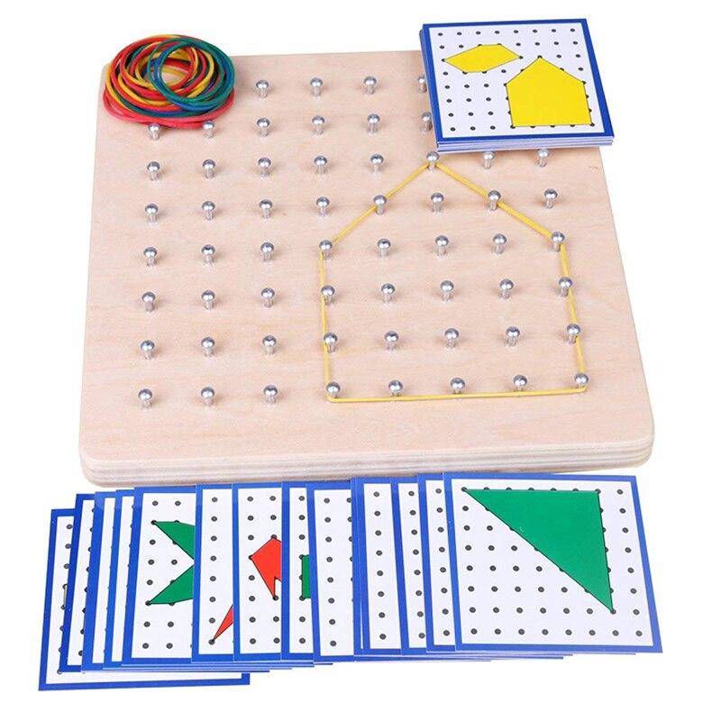Juguetes para bebés Montessori gráficos creativos de goma para atar las uñas con tarjetas educación infantil preescolar niños Brinquedos Juguetes