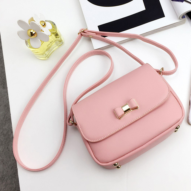3d84b22e3c Aliexpress.com   Buy LEFTSIDE Women Bag Bow Pink Black Handbag PU .