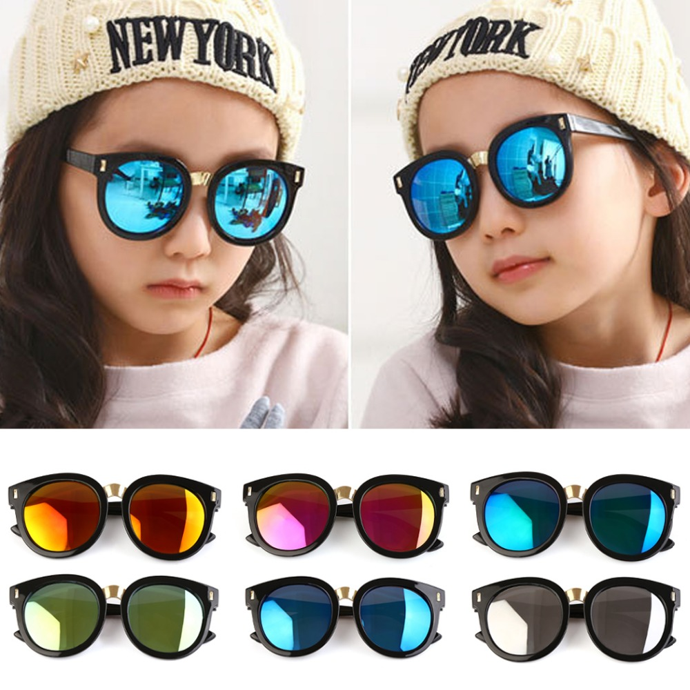 Practical Retro Vintage Kids Oversized Sunglass Uv400 Brand Designer 2018 Children's Mirror Sun Glass Luxury Shades Baby Boy Girl Sunglass