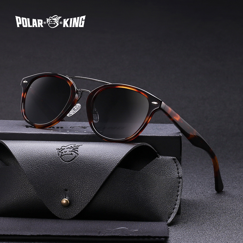 POLARKING Brand Unisex Acetate Polarized Sunglasses Men Traveling Sun Glasses For Driving Shades Fishing Eyewear Oculos