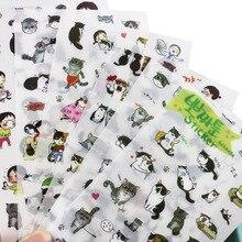 Листов/комплект черно-белый фотоальбом кот декоративные пвх творческий прозрачный симпатичные наклейки diy