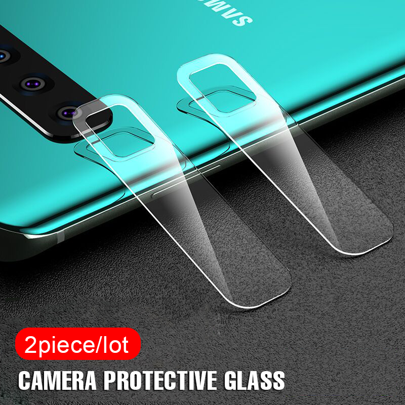 2Pcs Lens Protector Glass On The For Samsung Galaxy S8 S9 S10 Plus S10e Tempered Glass Note 8 9 Camera Screen Protective Film