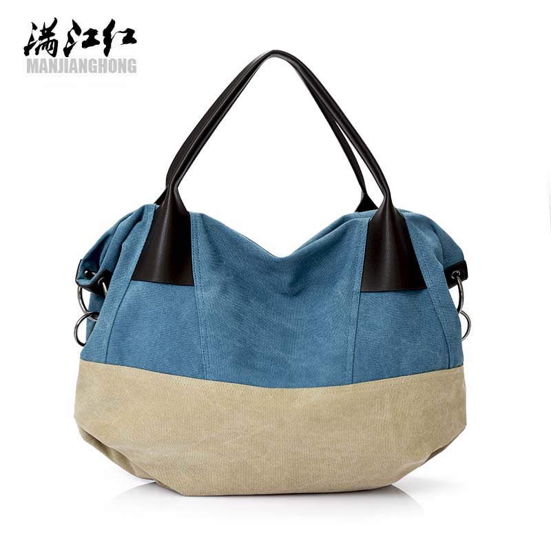 2017 Shoulder Bags For Women Vintage Canvas Big Penelled Shopping Bag For Female Casual Crossbody Bags For Women High Quality