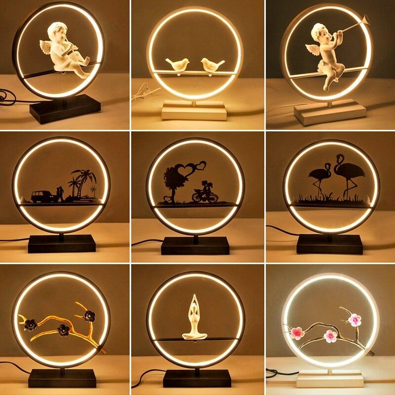 LED lampe de bureau lampes de Table pour chambre salon veilleuse Table de chevet lumière luminaire décoratif Dimmable lampe d'éclairage