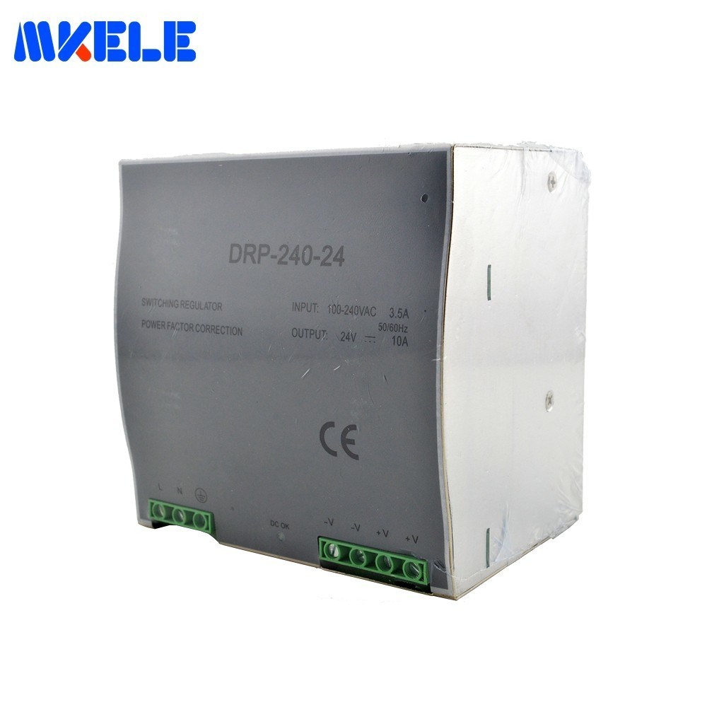 Makerele DR-240 24V 48V 240W 20A Din Rail Power Supply High Quality Single Output LED DC Transformer Switching Power Supply dr 240 24 high quality single output led dc 240w 24vdc 10a din rail power supply transformer switching power supply