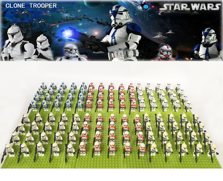 20PCS//LOT Senate Commando Captain Army sw613 STAR WARS with 3 Weapons toys gift