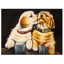 DIY diamond painting animal Cartoon dog couple embroidery lover Mosaic puppy home decor