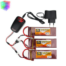 Lipo 7.4v 5000mah  battery 40C ZOP Batteies T plug and charger with cable for rc Quadcopter Airplane drone Parts wholesale
