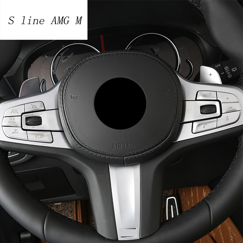 Car Styling Steering Wheel Buttons decoration frame Covers Stickers Trim for <font><b>BMW</b></font> <font><b>X3</b></font> <font><b>G01</b></font> X4 2018-2019 Interior auto Accessories image