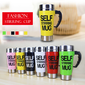 500ml Coffee Milk Automatic Mixing Cup Self Stirring Mug Stainless Steel Thermal Cup Electric Lazy Smart Double Insulated Cup