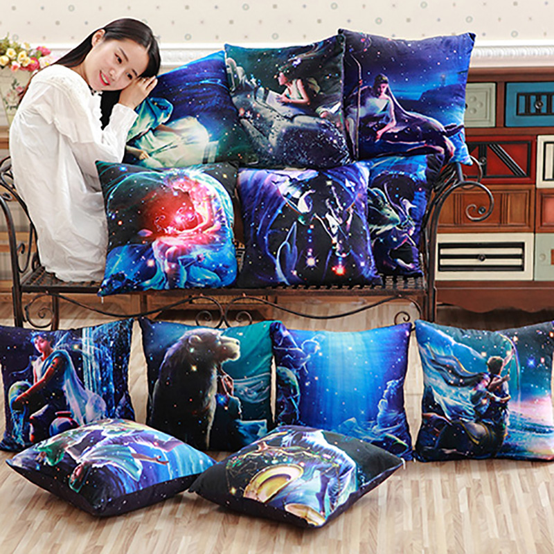 43*43cm Twelve Constellations Themes Pillow Soft Comfortable Plush Pillow PP Cotton Stuffed Pillow Literary Girl Valentine's Day