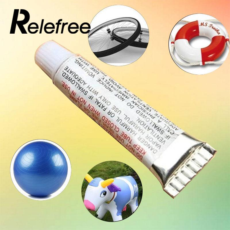 Relefree PVC Adhesive Inflatable Repair Glue Tube Patch Kit For Toys Boat Swim Ring Pool Yoga ball stool chair