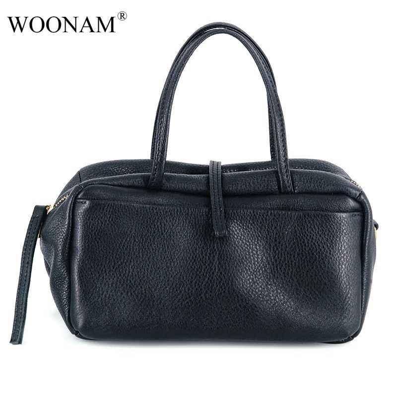 Женская сумка-топик WOONAM, эксклюзивная деловая сумка из натуральной телячьей кожи, Средняя сумка-тоут, WB785