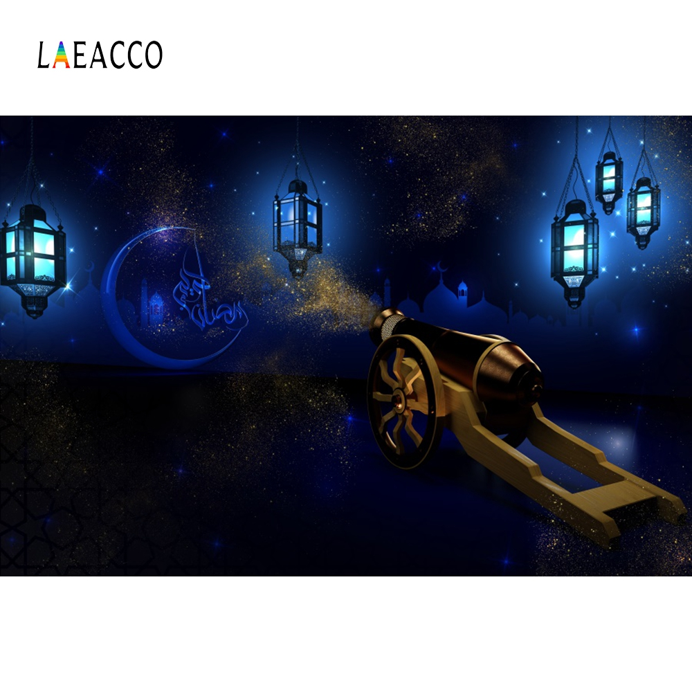 Laeacco Ramadan Festival Fatima Cannon Muslim Lantern Scene Photographic Background Vinyl Photography Backdrops For Photo Studio in Background from Consumer Electronics