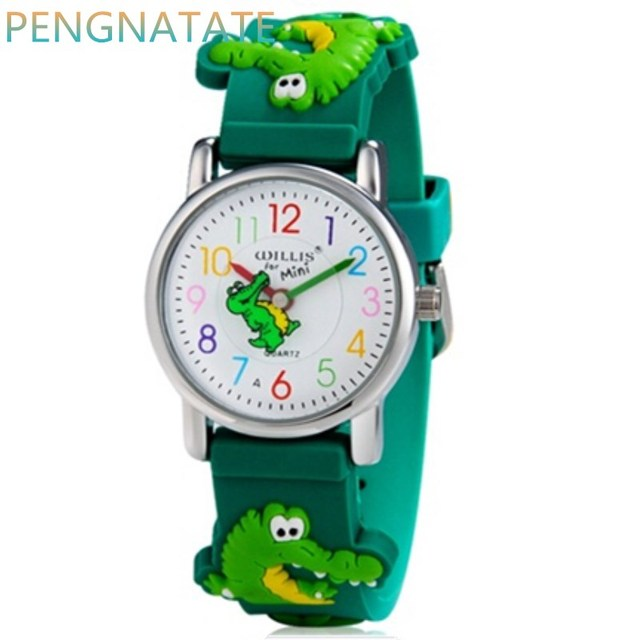 WILLIS Brand Electronic Quartz Watch Children 3D Crocodile Watches For Boys Spor