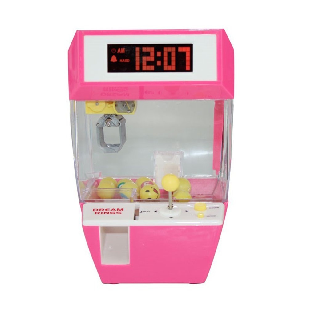 Catcher Alarm Clock Coin Operated Game Machine Crane Candy Doll Grabber Claw Arcade Automatic Toy Kids